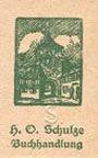 Billets Lichtenfels a. Main, H. O. Schulze Buchhandlung, billet, 10 pf (1920), lettre S