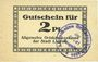 Billets Liegnitz (Legnica, Pologne), Allgemeine Ortskrankenkasse, billet, 2 pf, carton blanc mince