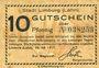 Billets Limburg a. d. Lahn, Stadt, billet, 10 pf 20.7.1917