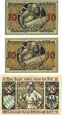 Billets Lindenberg i. Allgäu, Stadt, billets, 10 pf  (2ex)(numérotaion 4 & 3mm de haut) 50 pf (n° 4mm haut)