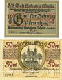 Billets Lindenberg i. Allgäu, Stadt, billets, 10 pf (numérotaion de 2,5mm de haut) 50 pf (numérotaion de 3mm
