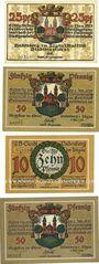Billets Lindenberg i. Allgäu, Stadt, billets, 25 pf, 50 pf + 10 pf, 50 pf 1.5.1918