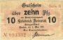 Billets Lintfort, Steinkohlenbergwerk Friedrich Heinrich, billet, 10 pf 1.5.1917, série II