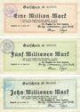 Billets Lippstadt, Stadt, billets, 1, 5, 10 millions mark 14.8.1923