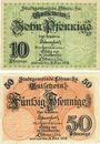 Billets Löbau, Stadt, billets, 10 pf, 50 pf n.d. - 31.12.1918