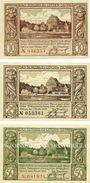 Billets Lötzen (Gizycko, Pologne), Stadt, série de 3 billets, 10 pf, 25 pf, 50 pf 1.11.1920