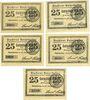 Billets Osterhofen. Stadt. Série de 5 billets. 25 pfennig 27.1.1917