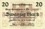 Billets Ostpreußen (Pologne, Russie, Lituanie), Provinzialverband, billet, 20 mark 10.12.1918, annulation...