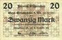 Billets Ostpreußen (Pologne, Russie, Lituanie), Provinzialverband, billet, 20 mark 10.12.1918