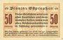 Billets Ostpreußen (Pologne, Russie, Lituanie), Provinzialverband, billet, 50 pf 10.12.1918, 2e émission