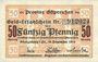 Billets Ostpreußen (Pologne, Russie, Lituanie), Provinzialverband, billet, 50 pf 10.12.1918