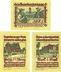 Billets Pries-Friedrichsort, Baugenossenschaft Eigenheim, billets, 25 pf, 50 pf, 1 mark (1922)