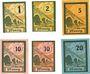 Billets Salzburghofen, Gemeinde, billets, 1 pf, 2 pf, 5 pf, 10 pf (2ex), 20 pf 1920