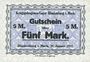 Billets Allemagne. Blankenburg. Kriegsgefangenenlager. Billet. 2 mark 27.1.1917