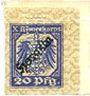 Billets Allemagne. Hameln. X. Armeekorps. Scheckmarken. Billet. 20 pf (1917)