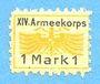 Billets Allemagne. Karlsruhe. XIV. Armeekorps. Scheckmarken. Billet. 1 mark n. d.