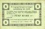 Billets Allemagne. Landsberg. Kriegsgefangenenlager. Billet. 5 mark 1.10.1915