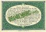 Billets Brandenburg. Inspektion der KGL im Bereich des XIII. Armeekorps. Billet. 25 pf 1.10.1917