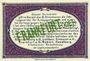 Billets Frankfurt Oder. Inspektion der KGL im Bereich des XIII. Armeekorps. Billet. 50 pf 1.10.1917