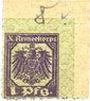 Billets Hannovre. X. Armeekorps. Scheckmarken. Billet. 1 pf (1917)