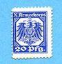 Billets Hannovre. X. Armeekorps. Scheckmarken. Billet. 20 pf (1915)