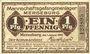 Billets Merseburg. Mannschaftsgefangenenlager. Billet. 1 pf 1.1.1916