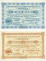 Billets Minden. Gefangenenlager. Billets. 1 mark, 5 mark 15.11.1916