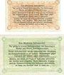 Billets Minden. Gefangenenlager. Billets. 10 pf, 50 pf 1.12.1917