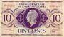 Billets Afrique Equatoriale Française Caisse Centrale de la France Libre billet 10 F 2.12.1941, Brazzaville