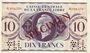 Billets Afrique Equatoriale Française Caisse Centrale de la France Libre billet 10 francs type 1941 SPECIMEN