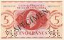 Billets Afrique Equatoriale Française Caisse Centrale de la France Libre. Billet 5 francs type 1941 SPECIMEN