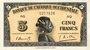 Billets Afrique Occidentale Française. Banque de l'Afrique Occidentale. Billet. 5 francs 14.12.1942