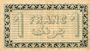 Billets Algérie. Chambre de Commerce d'Alger. Billet. 1 franc 3.9.1914, bleu