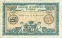 Billets Algérie. Chambre de Commerce d'Oran. Billet. 50 cmes 25.3.1921