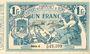 Billets Algérie. Chambre de Commerce de Bône. Billet. 1 franc 8.3.1920