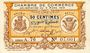 Billets Algérie. Chambre de Commerce de Bougie-Sétif. Billet. 50 cmes 9.3.1918