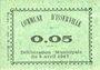 Billets Algérie. Commune d'Isserville. Billet. 5 cmes 5.4.1917