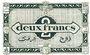 Billets Algérie. Région Economique d'Algérie. Billet. 2 francs 31.1.1944, 1ère émission