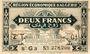 Billets Algérie. Région Economique d'Algérie. Billet. 2 francs 31.1.1944, 2e émission