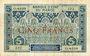 Billets Banque d'Etat du Maroc. Billet. 5 francs, 2e type, 1924