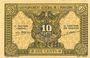 Billets Indochine. Billet. 10 cents (1942). Gouvernement général