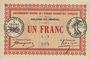 Billets Sénégal. Emissions de nécessité. Colonie du Sénégal. Billet. 1 franc 11.2.1917