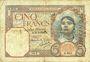 Billets Tunisie. Billet. 5 francs, type 1924, du 15.3.1939