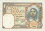Billets Tunisie. Billet. 5 francs, type 1924, du 25.9.1940