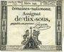 Billets Assignat. 10 sous 23 mai 1793. Signature : Guyon.
