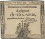 Billets Assignat. 10 sous 23 mai 1793. Signature : Guyon