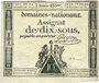 Billets Assignat. 10 sous 24 octobre 1792. Signature : Guyon