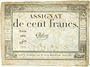 Billets Assignat. 100 francs. 18 nivôse an 3. Signature : Chibout