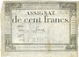 Billets Assignat. 100 francs. 18 nivôse an 3. Signature : Farcy