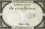 Billets Assignat. 5 livres. 10 brumaire an 2. Signature : Berlioz
